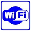 Naklejka WiFi niebieski