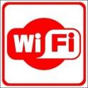 Naklejka WiFi czerwony