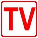 Naklejka telewizja czerwony