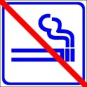 Naklejka zakaz palenia niebieski