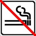 Naklejka zakaz palenia czarny