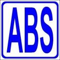 Naklejka ABS niebieski