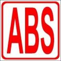 Naklejka ABS czerwony