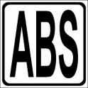 Naklejka ABS czarny
