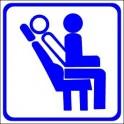 Naklejka fotele rozkładane niebieski