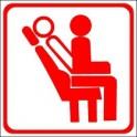 Naklejka fotele rozkładane czerwony