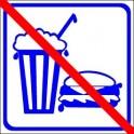 Naklejka nie jeść niebieski