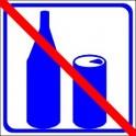 Naklejka nie pić niebieski