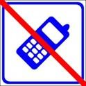 Naklejka nie telefonować niebieski