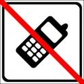 Naklejka nie telefonować czarny