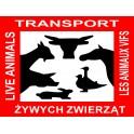 Naklejka połysk Transport Żywych Zwierząt