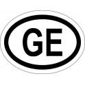 Naklejka GE typ 96 biały odblask