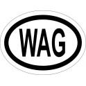 Naklejka WAG typ 96 biały odblask