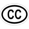 Naklejka CC 12x9cm połysk