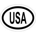 Naklejka USA typ 96 biały odblask