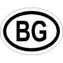Naklejka BG 12x9cm połysk