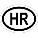 Naklejka HR 12x6cm połysk