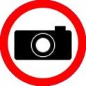 Naklejka Zakaz fotografowania 16x16cm