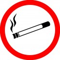 Zakaz palenia papieros  9cm