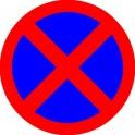 Zakaz Parkowania naklejka 29cm