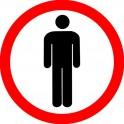 Zakaz ruchu pieszego 9cm