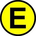 Naklejka eko E połysk żółty