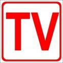 Naklejka TV czerwony