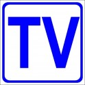 Naklejka TV niebieski