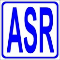 Naklejka ASR niebieski