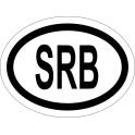 Naklejka SRB typ 96 odblask