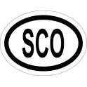 Naklejka SCO typ 96 odblask