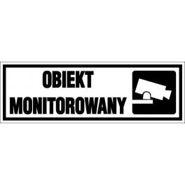 Naklejka Obiekt Monitorowany 15x5cm