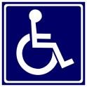 Niepełnosprawni znak niebieski połysk no