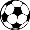 Naklejka piłka nożna 8x8cm