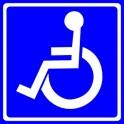 Naklejka wewnętrzna niepełnosprawni 9x9cm