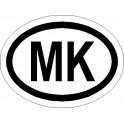 Naklejka MK 12x9cm odblask