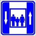 Naklejka winda osobowa
