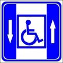 Naklejka winda osobowa dla niepełnosprawnych