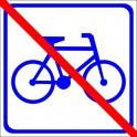 Naklejka nie dla rowerów
