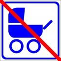 Naklejka nie dla wózków dziecinnych