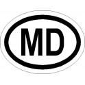 Naklejka MD 12x9cm odblask