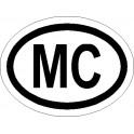 Naklejka MC 12x9cm odblask