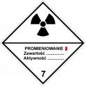 Znak ADR grupa 7a