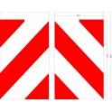Flagi chorągiewki ostrzegawcze 25x40cm 2 szt
