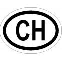 Naklejka CH 12x9cm połysk