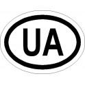 Naklejka  UA 12x9cm odblask