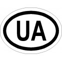 Naklejka UA 12x9cm połysk