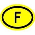 Naklejka F typ 96 odblask żółty