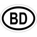Naklejka BD typ 96 połysk
