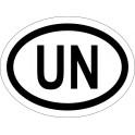 Naklejka UN typ 96 biały połysk